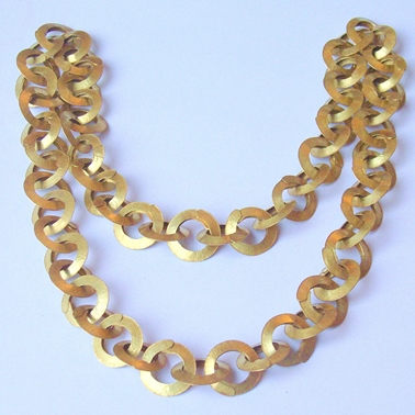 Brass small link chain
