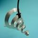 Silver cone pendant