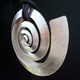 Large silver swirl pendant