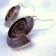 Swirl copper earrings