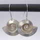 Swirl silver earrings