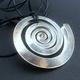 Small swirl silver pendant