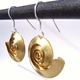 Swirl brass earrings