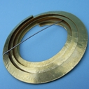 Circle brass brooch