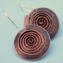 Spiral copper earrings