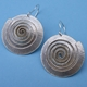 Spiral sliver earrings