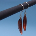 New moon copper earrings