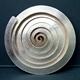 Spiral silver brooch