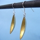 New moon brass earrings