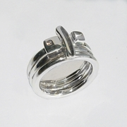 Silver Ring Set with Diamond