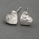 Ripple pebble heart studs