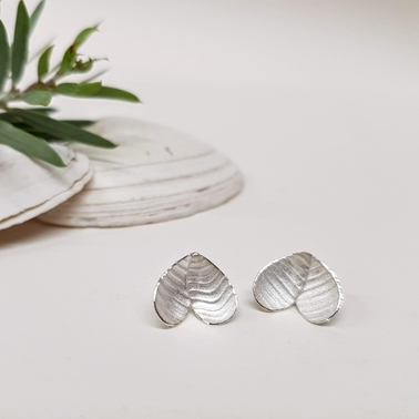 Rippled Eucalyptus earrings