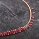 Pink Tourmaline Graduated Row Necklace