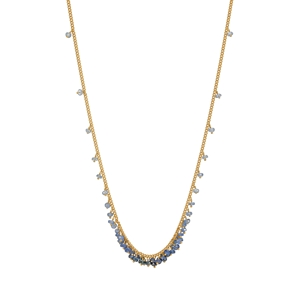 Emerald graduated row necklace