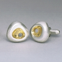 Rock Cufflinks with 18ct gold plate