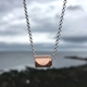 Rolled Wave Pendant Rose Gold Plated
