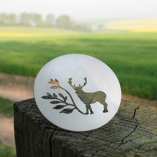Round Stag Brooch