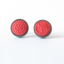 Round studs - Ribbon Red