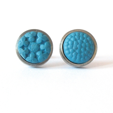 Round studs - Turkish Blue