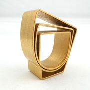 Strata Curve Ring Gold