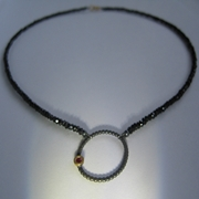 ruby enso spinel necklace