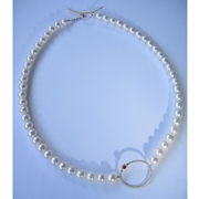 enso pearls with ruby necklace