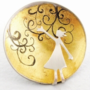 Rushing wind brooch
