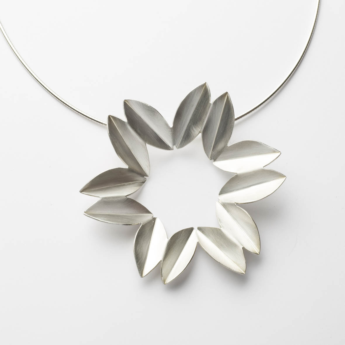 Silver fold necklace contemporary necklaces pendants by silver fold necklace mozeypictures Image collections