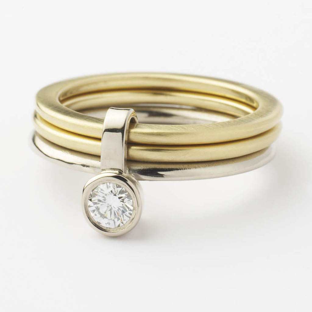18k gold and ring contemporary rings by