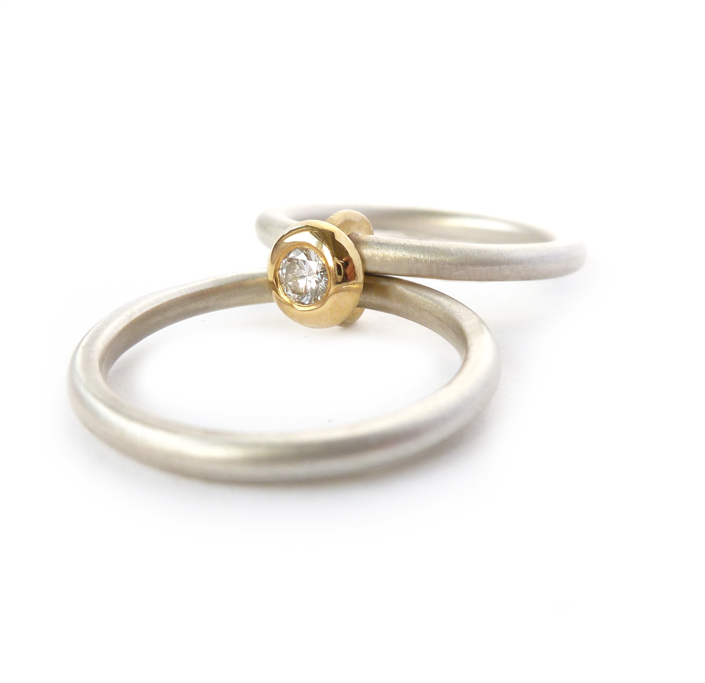 plain d yellow wedding shaped ring gold simple rings