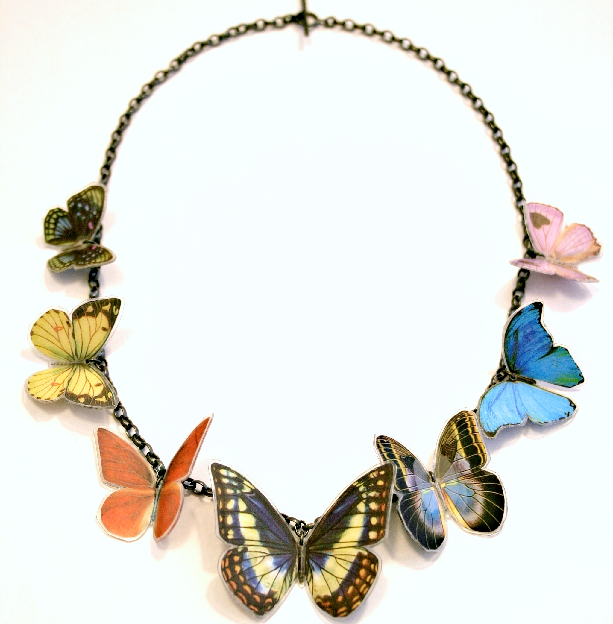 7 X Butterfly Necklace Contemporary Necklaces Pendants