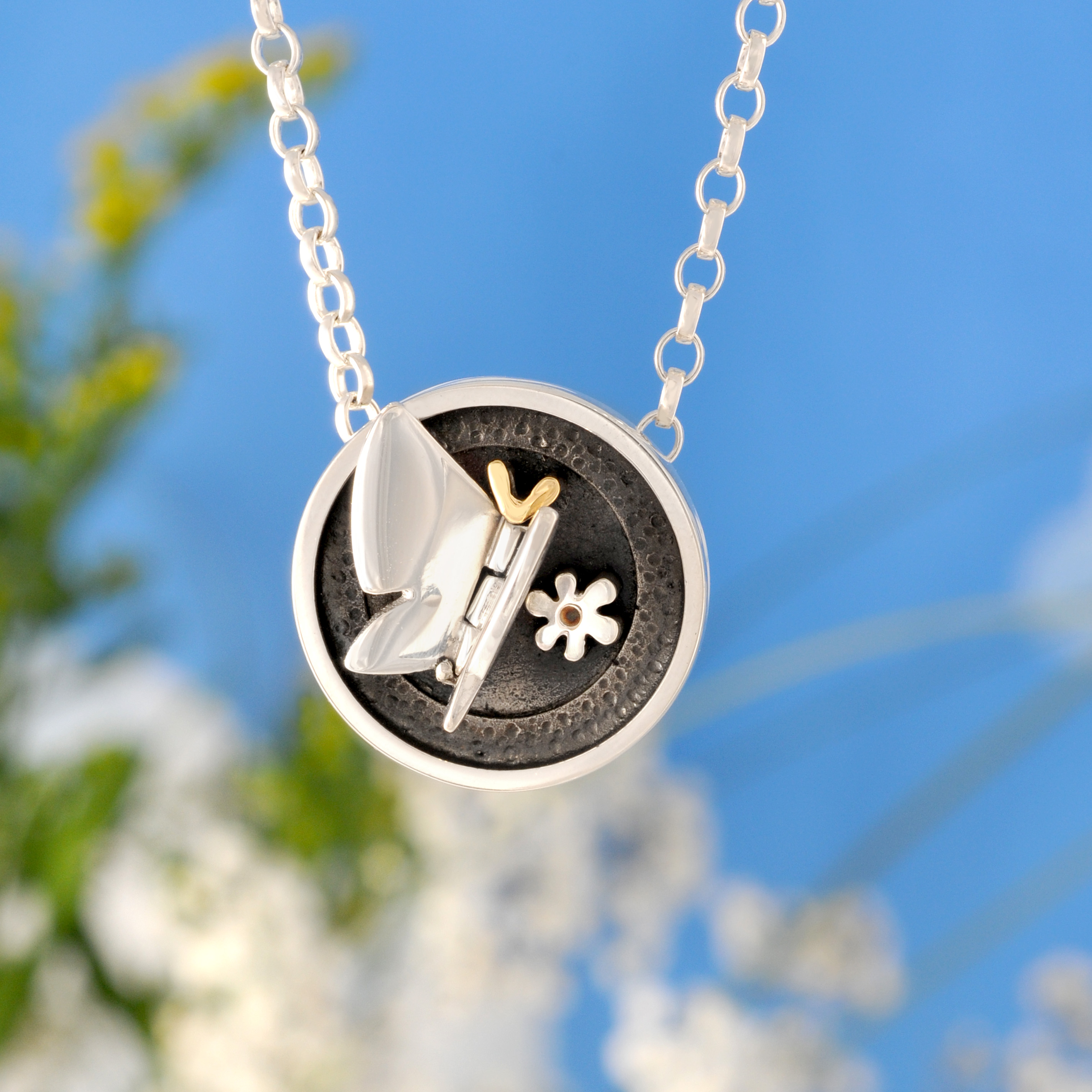 Butterfly Kisses Pendant Contemporary Necklaces