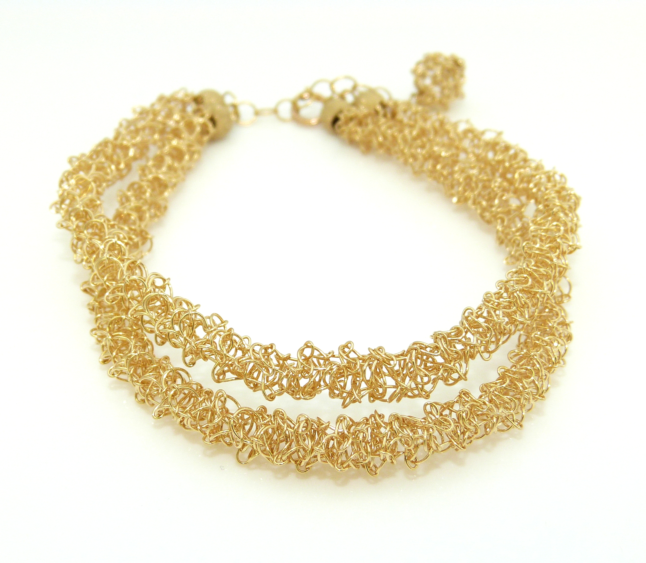 Double Strang Yellow Gold Filled Bracelet