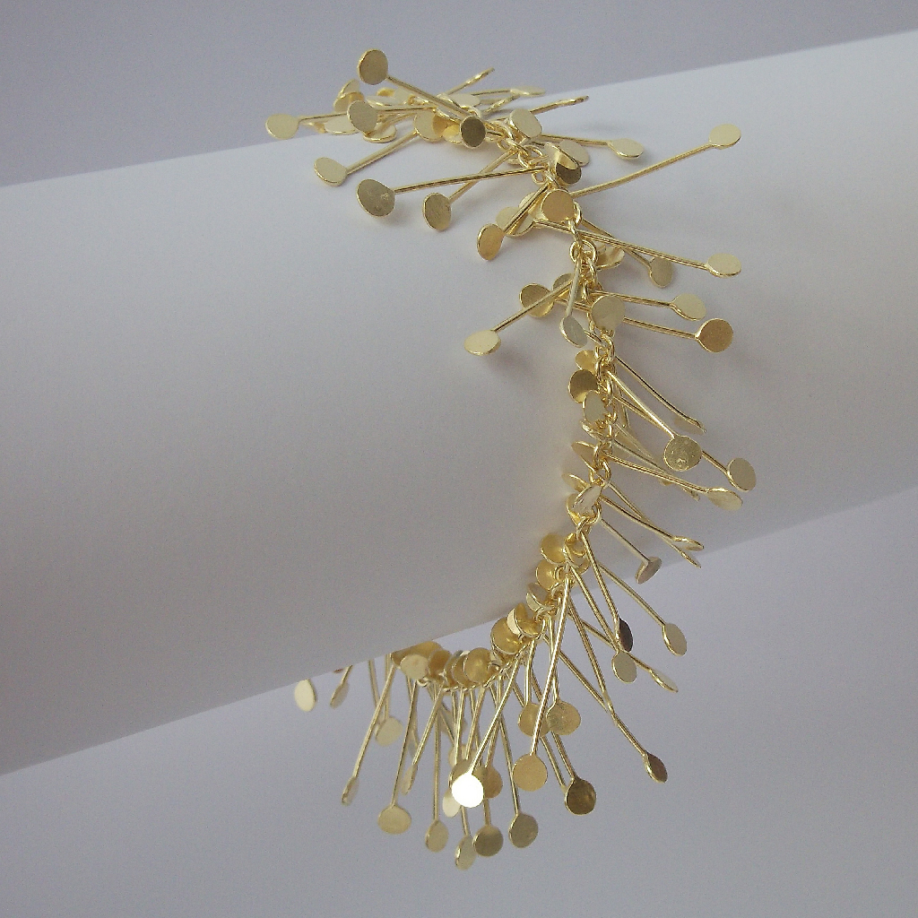 Chaos wire bracelet, gold satin | Contemporary Bracelets by ...