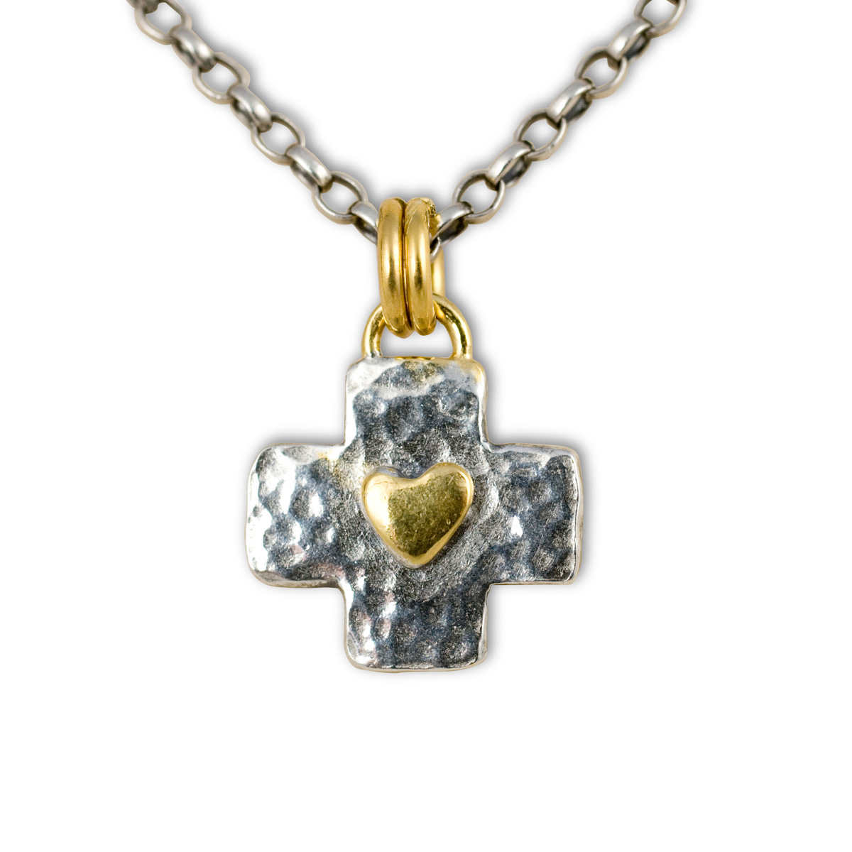 inri tone pendant with itm crucifix sign gold only two cross square