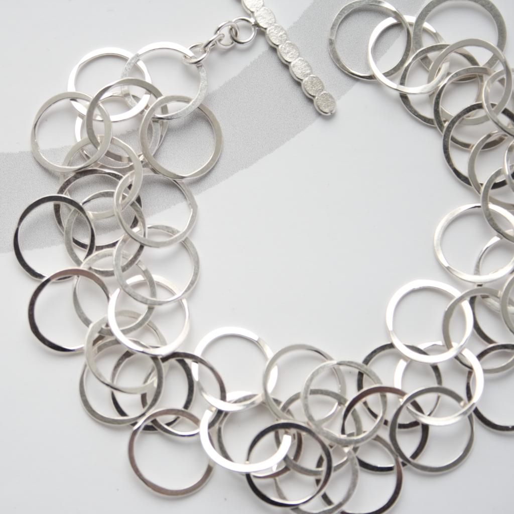 3 Loop Bracelet Silver