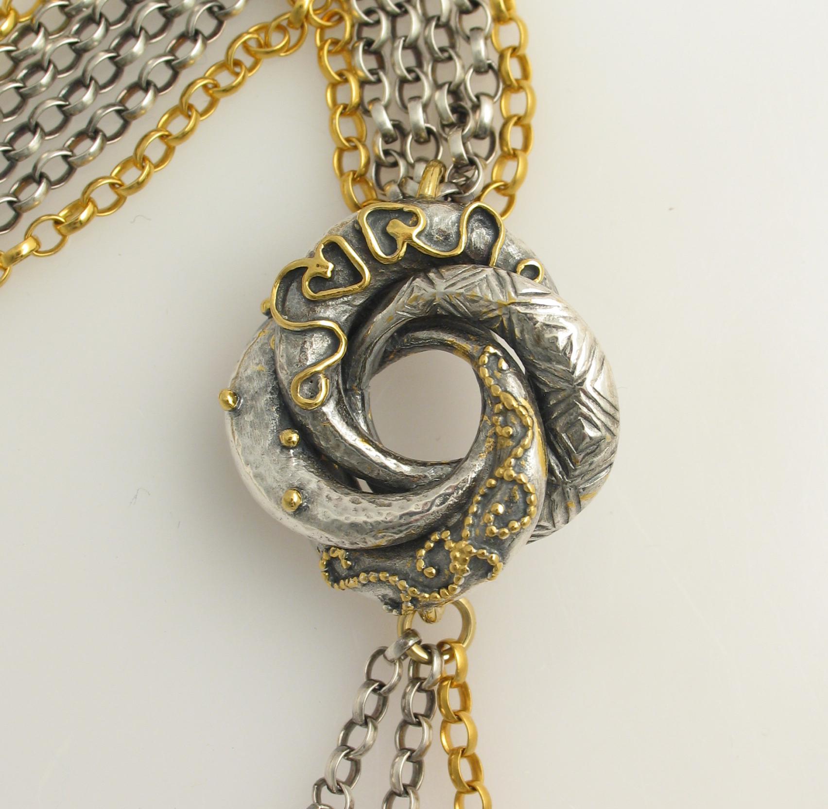 Algerian Love Knot Necklace Contemporary Necklaces