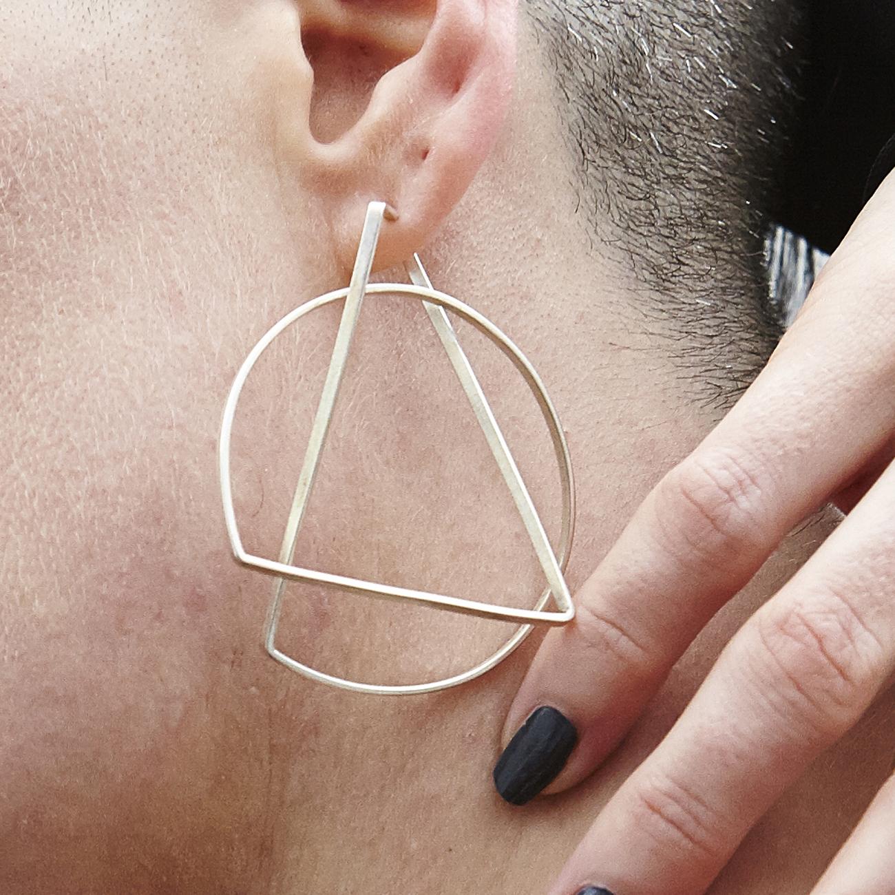 Large Hoop Earrings Gold Plate | Contemporary Earrings by ...