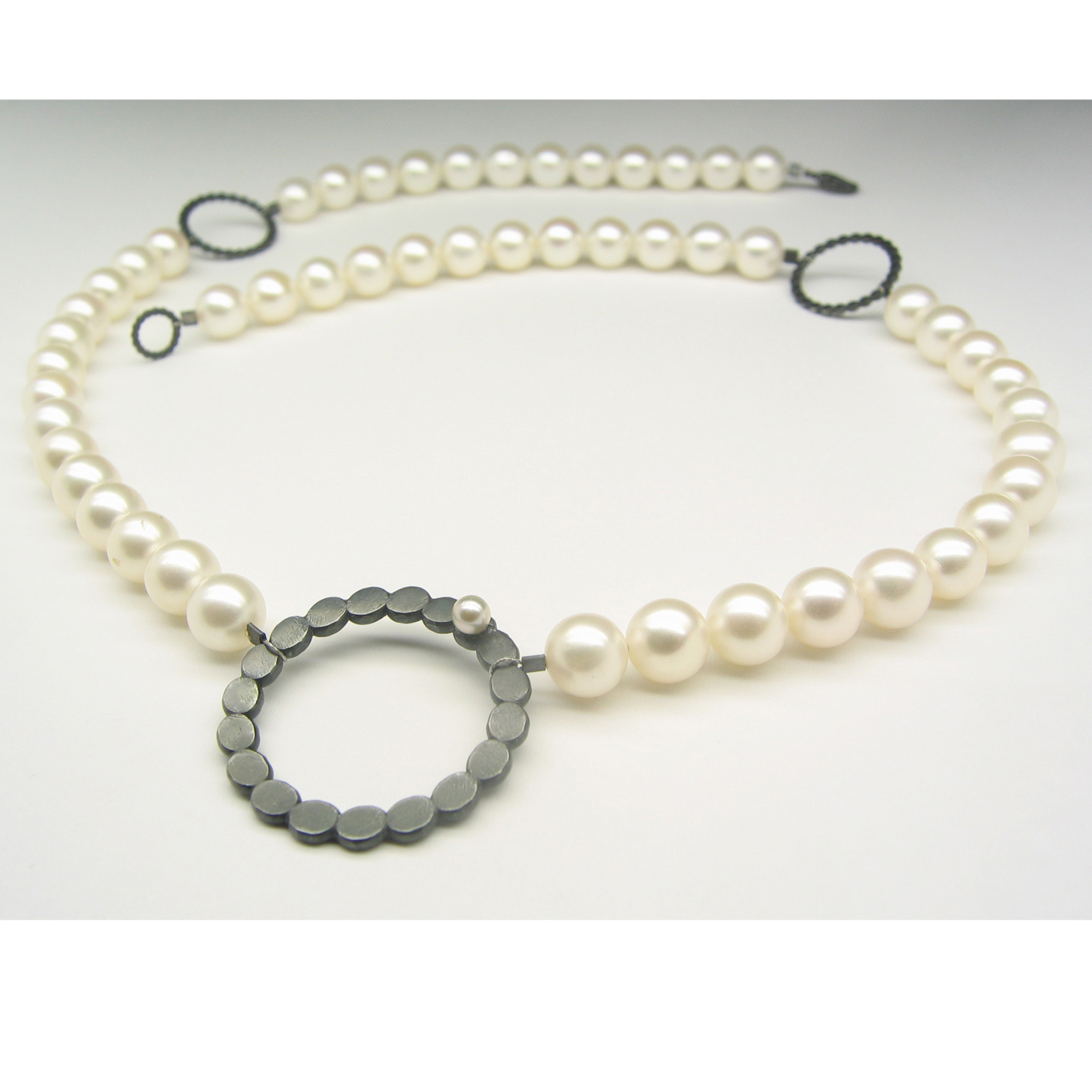2891d0d877ac9 enso pearl oxi necklace | Contemporary Necklaces / Pendants by ...