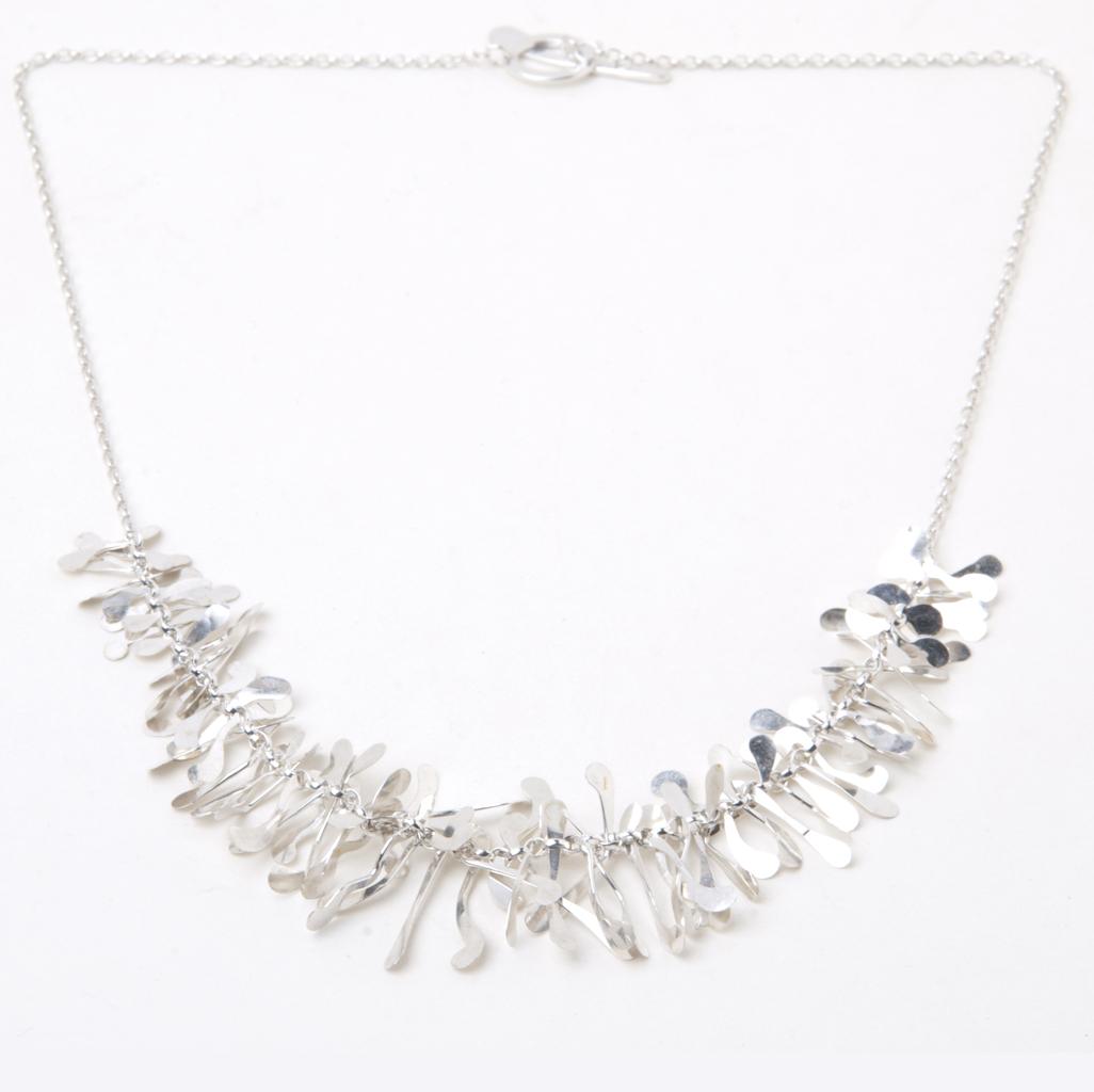 Half Boa Necklace In Silver Contemporary Necklaces