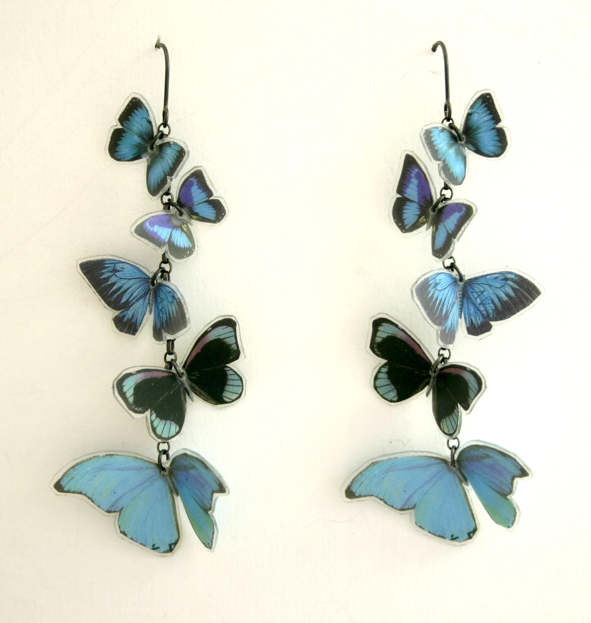 Multi Butterfly Earrings Contemporary Earrings By