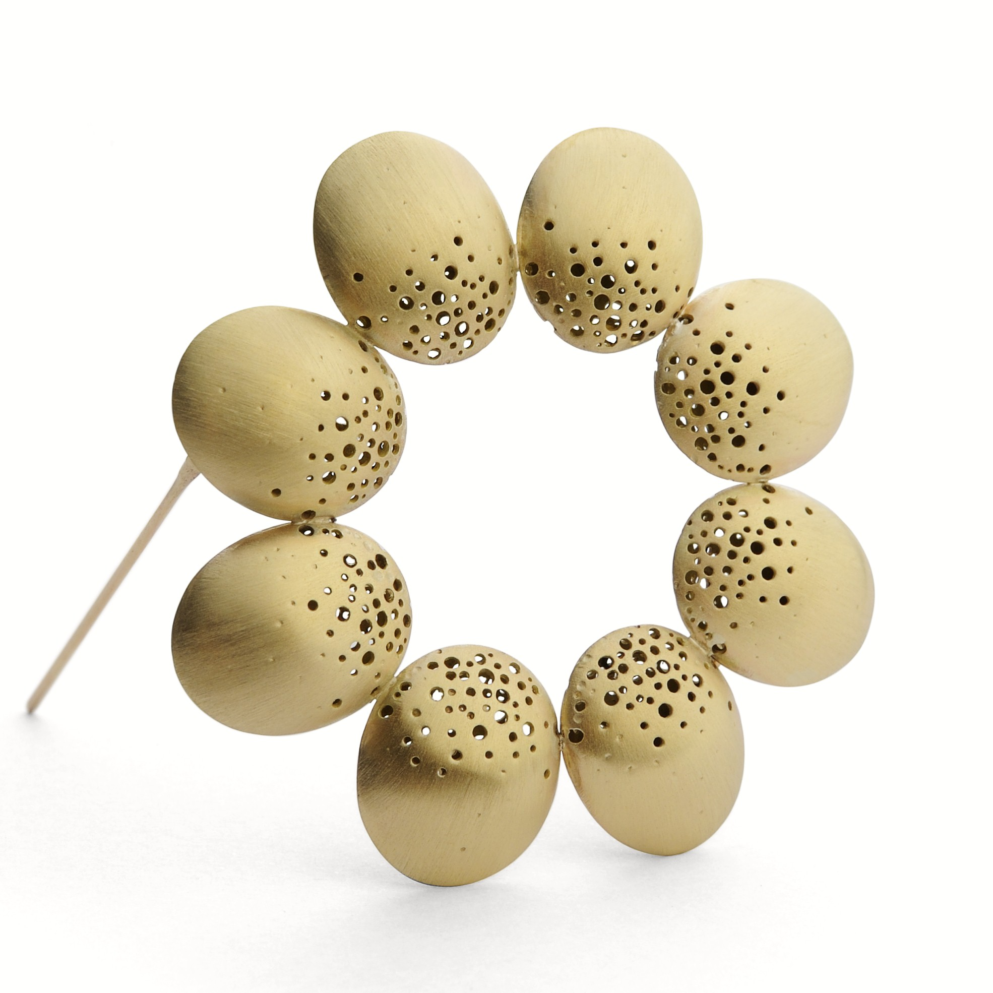 Hollow Domed Brooch Contemporary Brooches By
