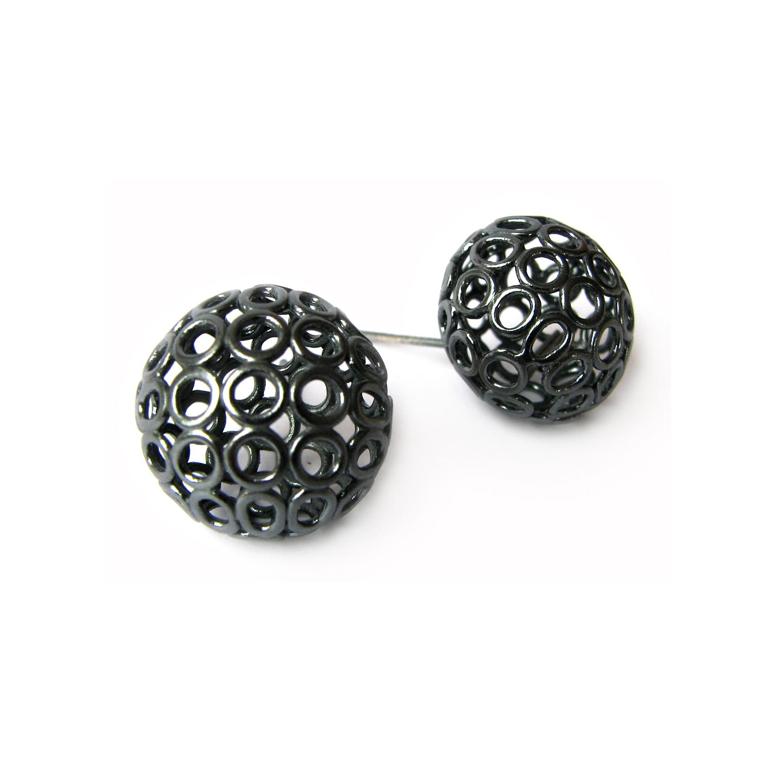 Large Sphere Stud Earring