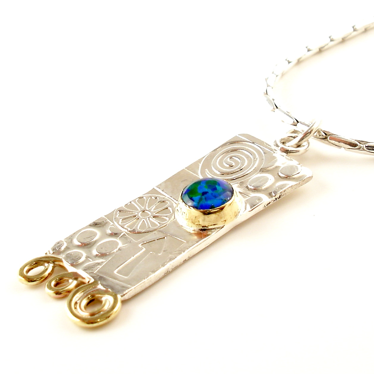 large opal triplet pendant contemporary necklaces