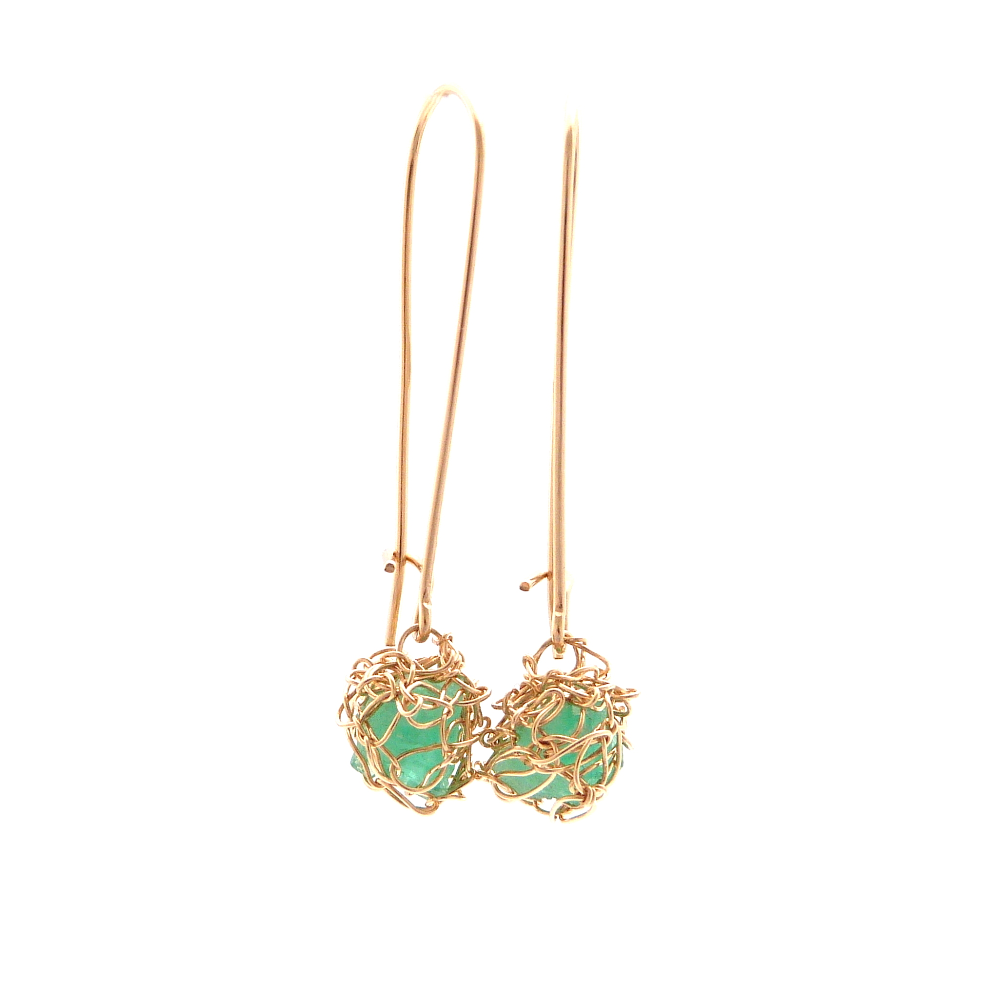 emerald earrings jewellery by contemporary yara shop angeli