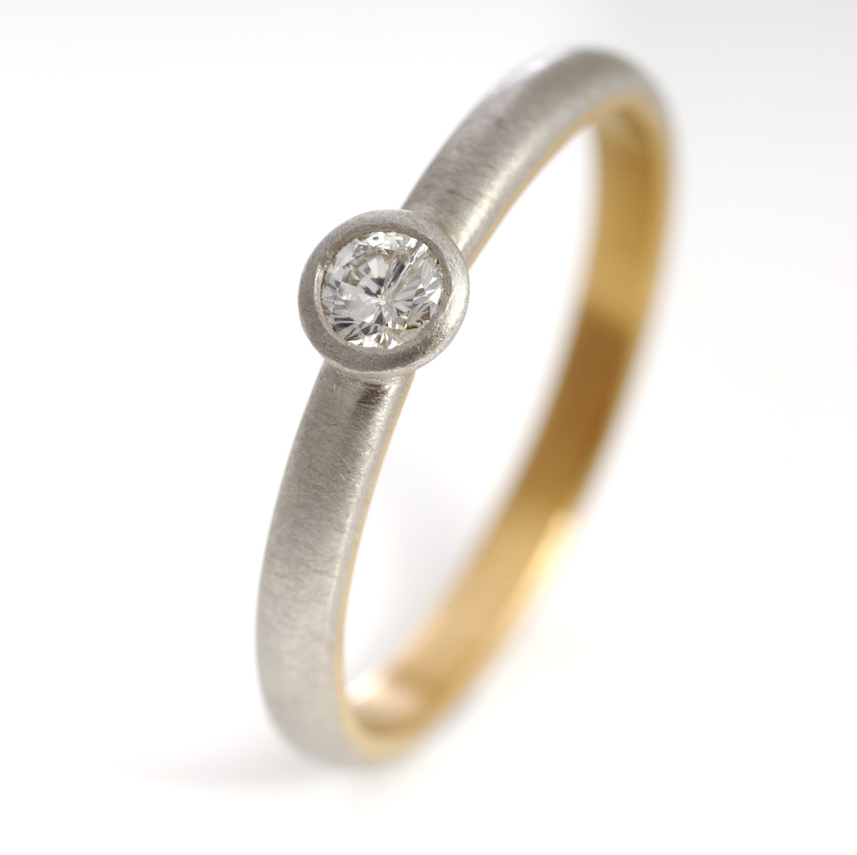Platinum 22ct gold and diamond ring Contemporary Rings by