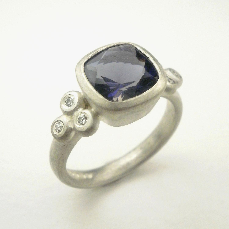 Sterling Silver Iolite Ring