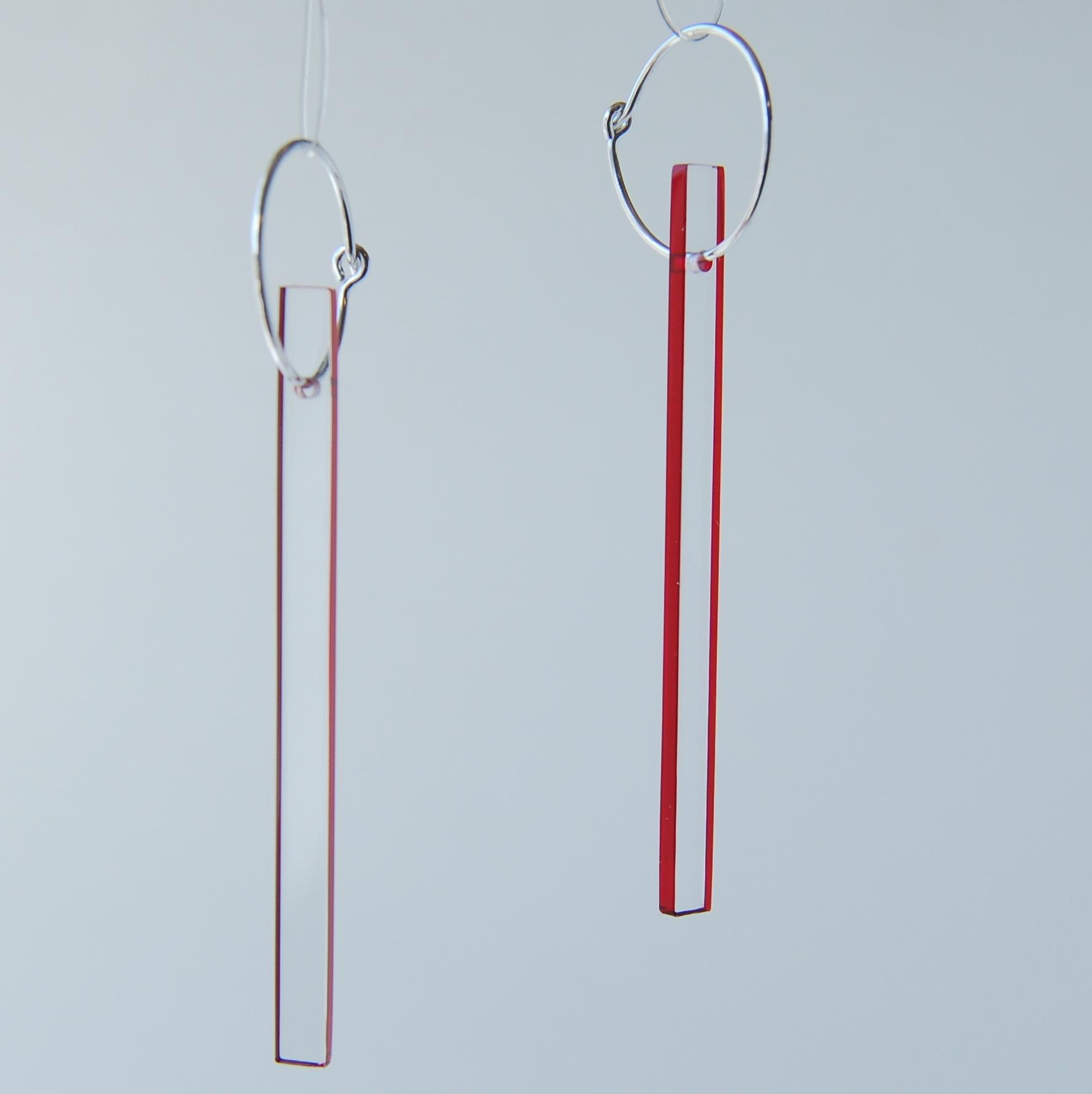 rectangle hoop earrings contemporary earrings by