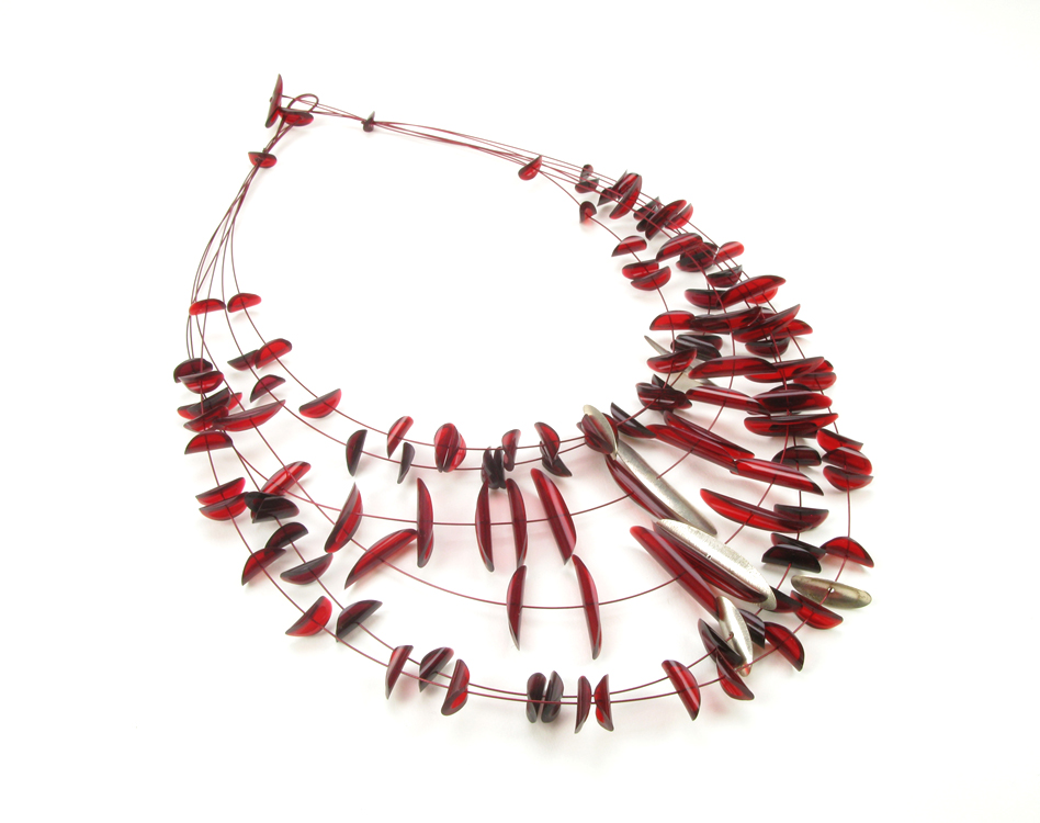 red F&S necklace