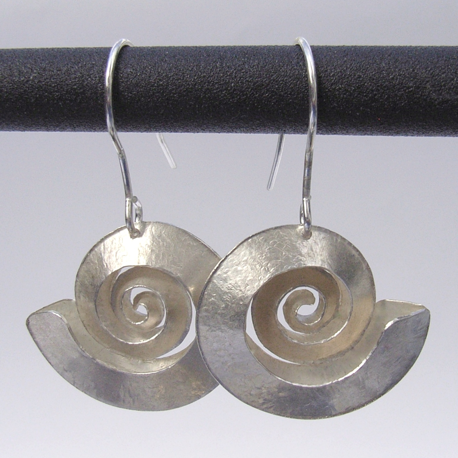 Swirl Silver Earrings Contemporary Earrings By Contemporary